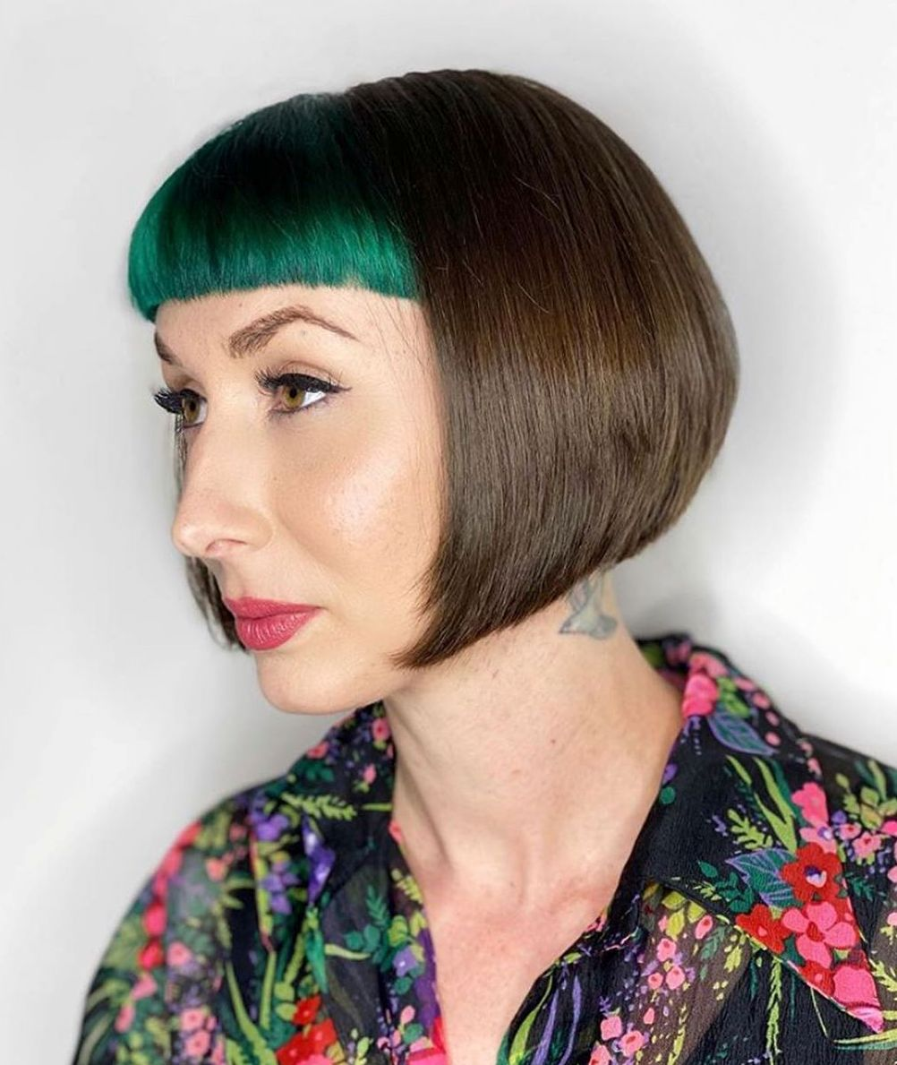 Super short cut with cropped bangs