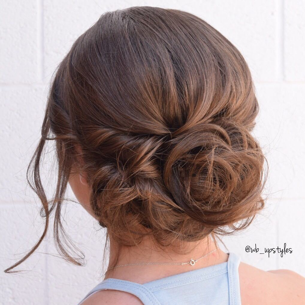 Updo bollo flojo formal