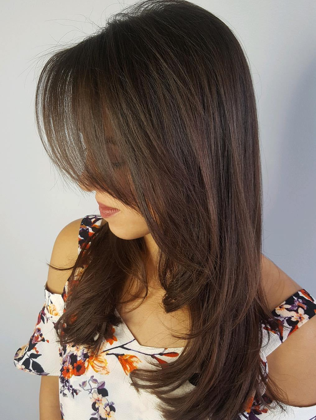9 hairstyles for long hair with bangs and layers   Balayage ...